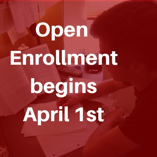 open enrollment begins April 1