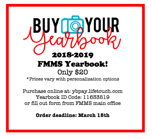 Order your FMMS yearbook