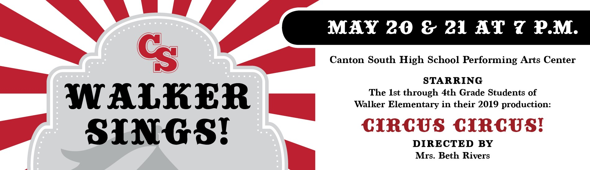 Walker Sings May 20 & 21