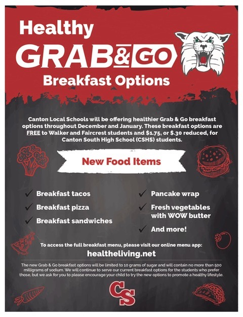 Grab and Go Breakfast options