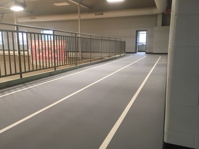 Indoor Walking Track at Canton South High School