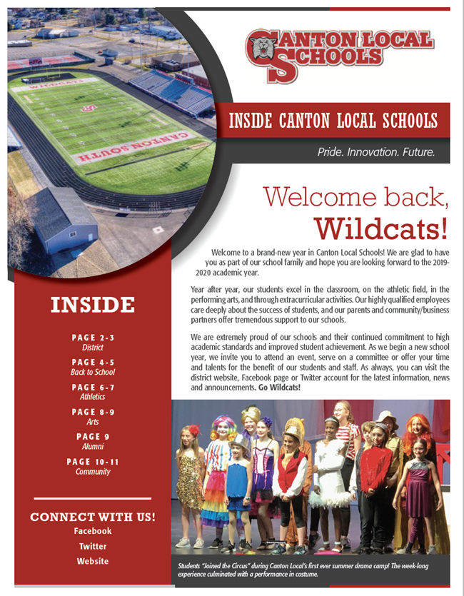 cover of inside canton local schools