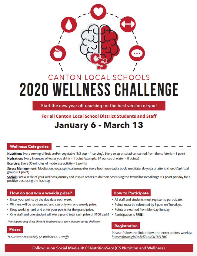 wellness challenge flyer