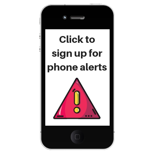 district alert sign up picture of phone